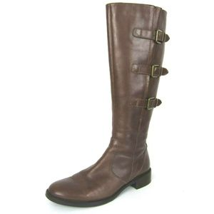 Ecco Hobart Tall Riding Boots EUC 42 11 11.5 Brown